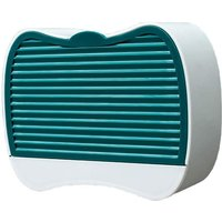 Wall Mounted Soap Dish Bathroom Storage Drainer Soap Box Hook Plastic Box - S # Dark Green