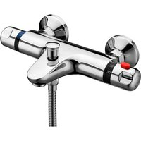Wall Mounted Thermostatic Bath Shower Mixer Tap