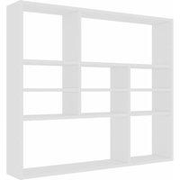 vidaXL Wall Shelf 90x16x78 cm Chipboard White - White