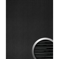 WallFace 15763 MOTION TWO Wall panel wallcovering wall panel 3D wave textured decor self-adhesive black 2.60 sqm