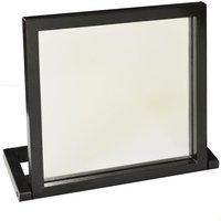 WALTHAM - Wood Free Standing Folding Bathroom / Dressing Table / Travel Mirror - Black