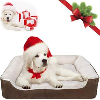 Warm dog bed, 31.5-inch machine washable and dry pet sleeper sofa sofa, super soft and breathable cotton co.ukfortable cushion, non-slip bottom,