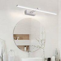 Thsinde - Warm White LED Wall Light Mirror Lamp 10W 3200K Modern Indoor Bathroom Lighting Black Lamp Bathroom Lighting 50CM [Energy class A +]