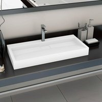 Youthup - Wash Basin 100x46x11 cm Mineral Cast/Marble Cast White