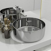 Wash Basin 40x15 cm Ceramic Silver - VIDAXL