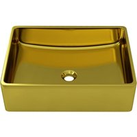 Asupermall - Wash Basin 41x30x12 cm Ceramic Gold