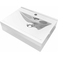 Wash Basin with Overflow 60x46x16 cm Ceramic Silver - VIDAXL
