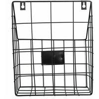 WASHED Modern Wire Magazine Newspaper Basket Mail Storage Rack Wall Organizer