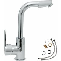 Tectake - Faucet swivel - bathroom sink tap, faucet tap, bath and sink tap - grey