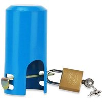 Briday - Water Faucet Lock Outdoor/Garden/Kitchen Hose Tap Faucet Lock Anti-theft Child-proof Metal Faucet Protection Cover Style A (Blue)