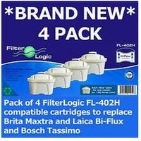 FL-402H Cartridges Compatible with Brita Maxtra Jug Water Filters ¦ Pack of 4