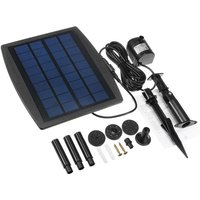 Water Pump Fountain Kit Feature 2.5W 200L / H Garden Pond Solar Panel Water Mohoo