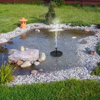 Asupermall - Watering Solar Power Fountain Pool Floating Water Pump