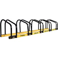 Waterproof Metal Modular Bike Rack 5 in 1 with ground fixing mechanism ideal for parking up to 5 bikes in park, private roads or garage. - Boudech