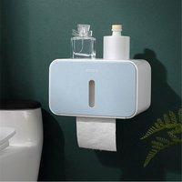 Kingso - Waterproof Toilet Paper Holder Box Bathroom Wall Mounted Tissue Roll Storage blue