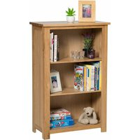 Waverly Oak Small Wide Bookcase with Adjustable Shelves in Light Oak Finish and Ample Storage Space 116cm - Home Office Furniture Designed to Take A4