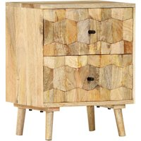 Waynesville 2 Drawer Bedside Table by Brown - Bloomsbury Market