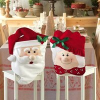WC mat and seat cover set with Santa Claus motif
