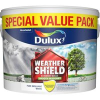 7.5L - Weathershield Smooth White Masonry Paint - Dulux