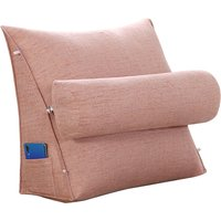 Wedge Back Pillow Rest Sleep Neck Home Sofa Bed Lumbar Office Cushion (Pink 1pc 45cm)