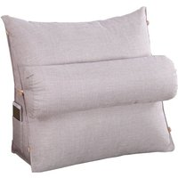 Wedge Pillow Sofa Bed Seat Neck Back Support Relief silvergrey