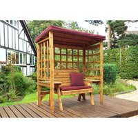 Wentworth Two Seat Arbour Burgundy - Fully Assembled - CHARLES TAYLOR