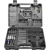 Wesco Tools - WESCO Drill Bit Set, 201Pcs Combination Drill Bit Sets Includes HSS Twist Drill Bits, Masonry Drill Bits, Wood Drill Bits, Driver Set,