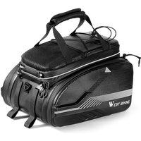 WEST BIKING Bike Trunk Bag MTB Road Bicycle Bag Travel Luggage Carriers Saddle Seats Panniers Bag Cycling Rear Rack Bag 25-45L,model:Black