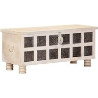 Westboro Solid Acacia Wood Storage Chest by Bloomsbury Market - White