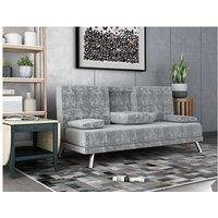 WestWood Fabric Manhattan Sofa Bed Velvet Grey