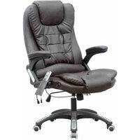 WestWood Leather 6 Point Massage Office Chair Brown - KMS