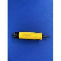 Weytoll Right Angle Drill Adapter Hand Drill Screwdriver Bit Hex Shank L-shaped Driver Socket,model:Yellow