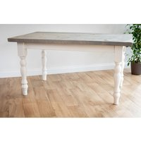 White Farmhouse Dining Table 213 cm