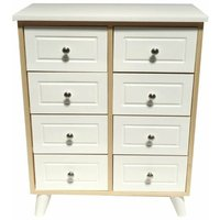 White Shabby Chic 8 Chest of Drawer Hallway Bedroom Storage Bedside Cabinet