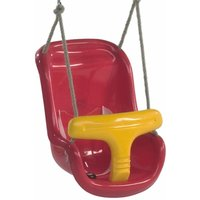 Baby Swing Seat (two-part) in red-yellow - Wickey