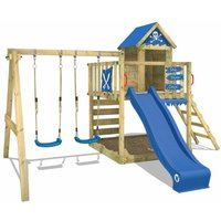 Climbing frame Smart Cave with double swing, slide, sandpit - Wickey