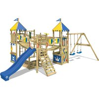 Climbing frame Smart Queen with swing, slide, climbing wall - Wickey