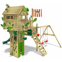 Climbing frame Smart Treetop with slide, swing and playhouse - Wickey