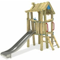 SUPERSALE Wooden climbing frame GIANT Villa with slide – DIN EN1176 – Commercial playhouse for kids - Wickey