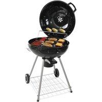 Oobest - WIHHOBY Barbecue à charbon sphérique 68*58*90cm noir