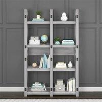 Wildwood Wood Veneer Bookcase Room Divider Shelving Unit White