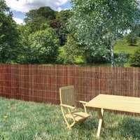 Willow Fence 300x100 cm - Brown