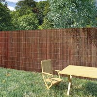 Willow Fence 300x170 cm - Brown - Vidaxl