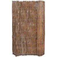 Willow Fence 5x1.7 m - Brown - Vidaxl
