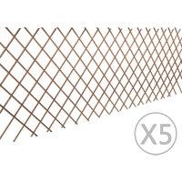 Willow Trellis Fence 90 x 180 cm 5 pcs - ASUPERMALL