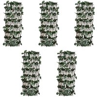 Willow Trellis Fences 5 pcs with Artificial Leaves 180x120 cm - YOUTHUP