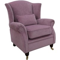 Wing Chair Fireside High Back Armchair Pimlico Lilac Fabric