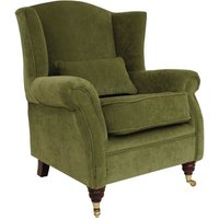 Wing Chair Fireside High Back Armchair Pimlico Sage Green Fabric