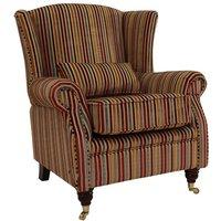 Wing Chair Fireside High Back Armchair Riga Stripe 03