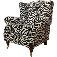 Wing Chair Fireside High Back Armchair Zebra
